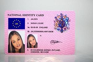 Fake UK national ID card website