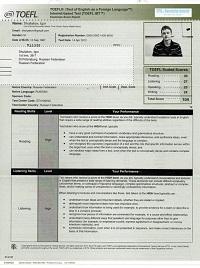 Buy TOEFL certificate online