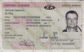 Fake South Africa driving license for sale