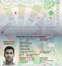 Real passport of Colombia for sale