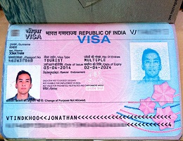 Real travel visa for india for sale